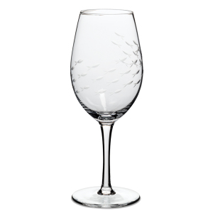 Hand-cut Fish Glassware Goblet Set Of 4