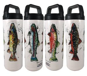 Trout or Flies Water Bottles