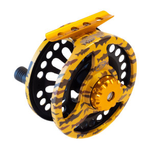 Limited Edition Hydro Dip Tyro 350 Trout Camo Cheeky Fly Reel