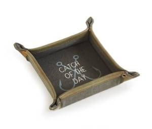 Re-purposed Canvas Catch All Tray