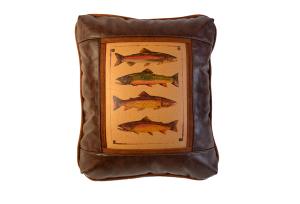 Trout & Flies Rectangular Pillows