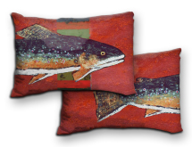 Indoor/Outdoor Trout Pillows
