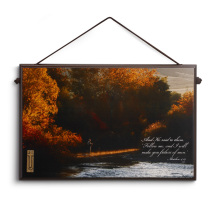 Autumn Fly Fishing Plaque
