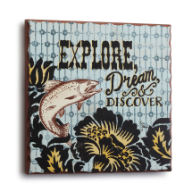 Explore Trout Plaque