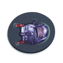 Baitcaster Fishing Reel Coaster Set of 4