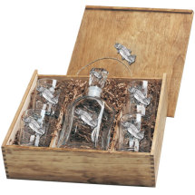 Pewter Trout Decanter Boxed Set