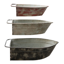 Metal Boat Shaped Tins - Set of 3