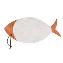 Marble & Mango Wood Fish Shaped Cheese Board