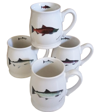 Bell Mugs Salmon Series Set of 4