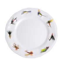 Fishing Flies Melamine Dinnerware