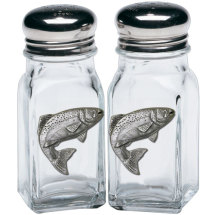 Pewter Trout Salt & Pepper Shakers
