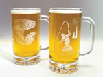 Etched Beer Steins