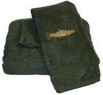 Cotton Embroidered Towel Set