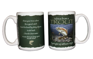"""Advice from a Trout"" Mug"
