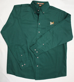 Button-down Shirt with Embroidered Fly