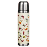Vacuum Bottle  Cream Faux-Leather With Flies