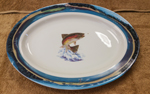 Dancing Rainbow Trout Oval Platter