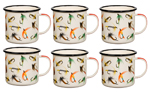 ENAMEL MUG WITH FLIES SET OF 4 Cream