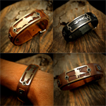 Leather Bracelets - Freshwater Stainless