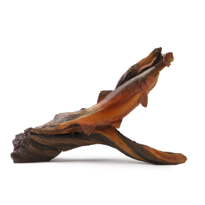 Whispering Woods Trout Sculpture