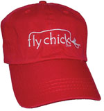 Fly Chick Embroidered Hat